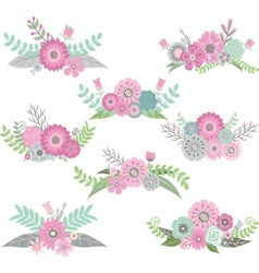 Wedding flower set vector