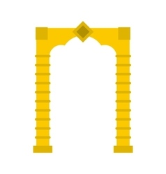 Yellow arch icon flat style vector image
