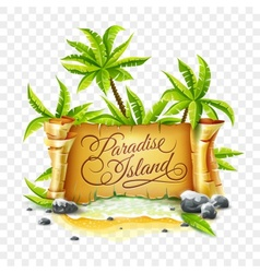 Paradise Island with ancient vector image