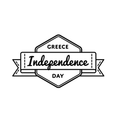 Greece independence day greeting emblem vector