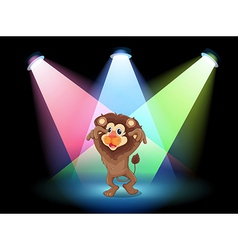 A stage with a big lion vector