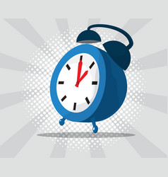 Abstract alarm clock with burst and halftone vector