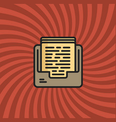 Archive documents icon simple line cartoon vector