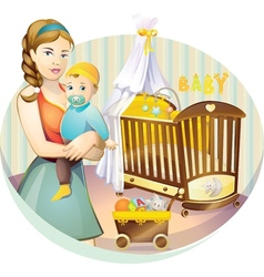 Mother nursery vector