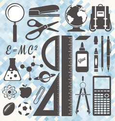 School icons and symbols vector