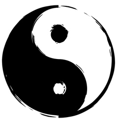 Symbol of yin-yang vector