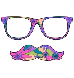 Glasses amd mustache vector image