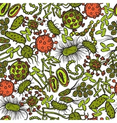 Bacteria And Virus Seamless vector image
