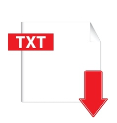 Txt download icon vector