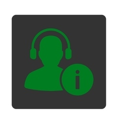 Help desk icon from commerce buttons overcolor set vector