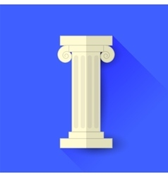 Single greek column vector