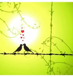 love birds kissing vector image