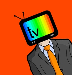 Creative television face vector