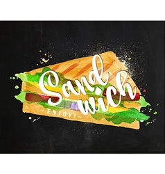Burger sandwich chalk vector