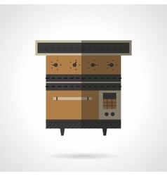 Stove flat color icon vector