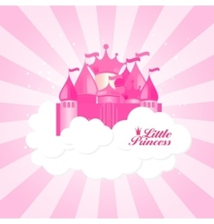 Little princess background vector
