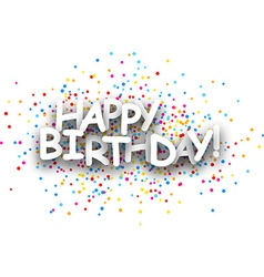 Happy birthday paper banner vector