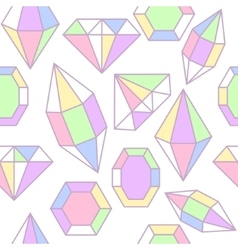 Diamond gem shape seamless pattern vector