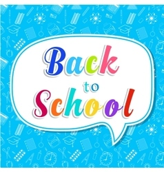 Back to school words banner on bubble vector image