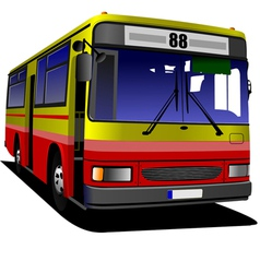 al 0613 bus 03 vector image