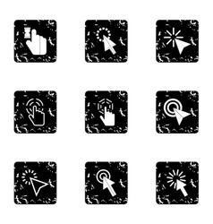 Arrow icons set grunge style vector image
