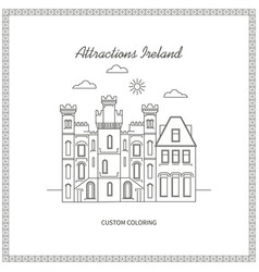 attractions ireland pictures vector image