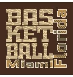 basketball design T-shirt vector image