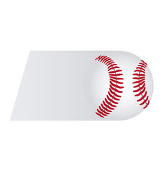 colorful background of fast moving baseball ball vector image