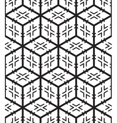 Cubes and crosses shape abstract seamless pattern vector
