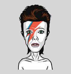 david bowie pop art portrait vector image