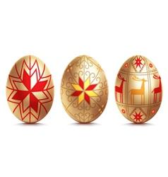Easter golden egg vector image
