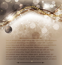 Elegant christmas greeting card vector