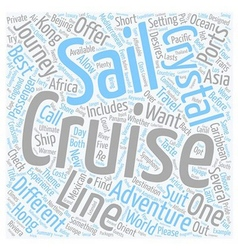 Experience A Crystal Cruise Adventure text vector image