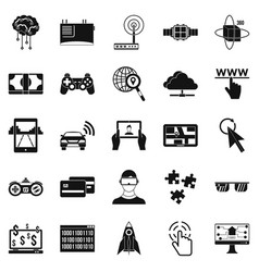 Experience icons set simple style vector