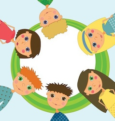 Frame with cute kids vector image vector image