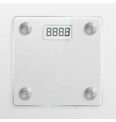 Glass bathroom scale vector image