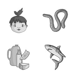 history food and other monochrome icon in cartoon vector image