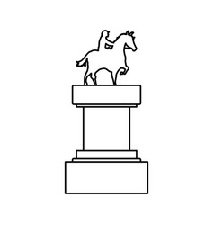 Horse riding trophy vector