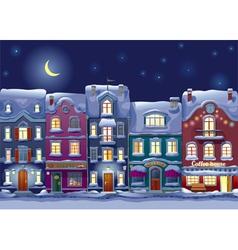 Midnight cityscape vector image