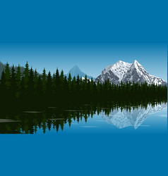 Mountain lake landscape vector