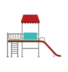 Playground slide game icon vector