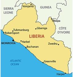 Republic of Liberia - map vector image vector image