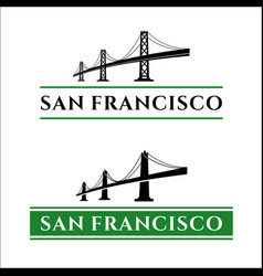 san francisco bridge vector image vector image