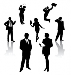 silhouette of business people vector image vector image