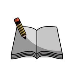 Text book school with pencil vector