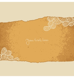 Vintage background with paper torn vector image