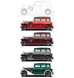 Vintagecar vector image vector image