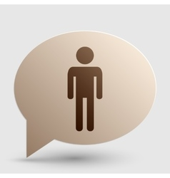 Man sign  brown gradient icon on vector
