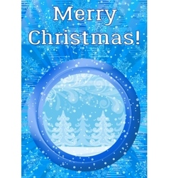 Window with Christmas Background vector image