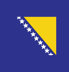 Bosnia and herzegovina flag for independence day vector